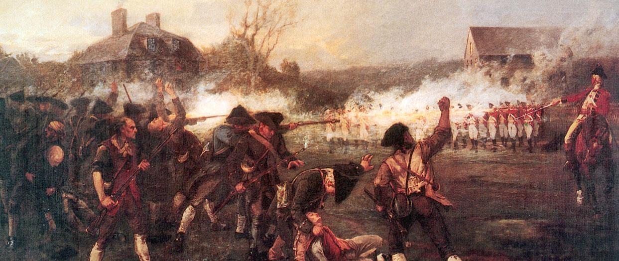 Battle Begins on Lexington Common