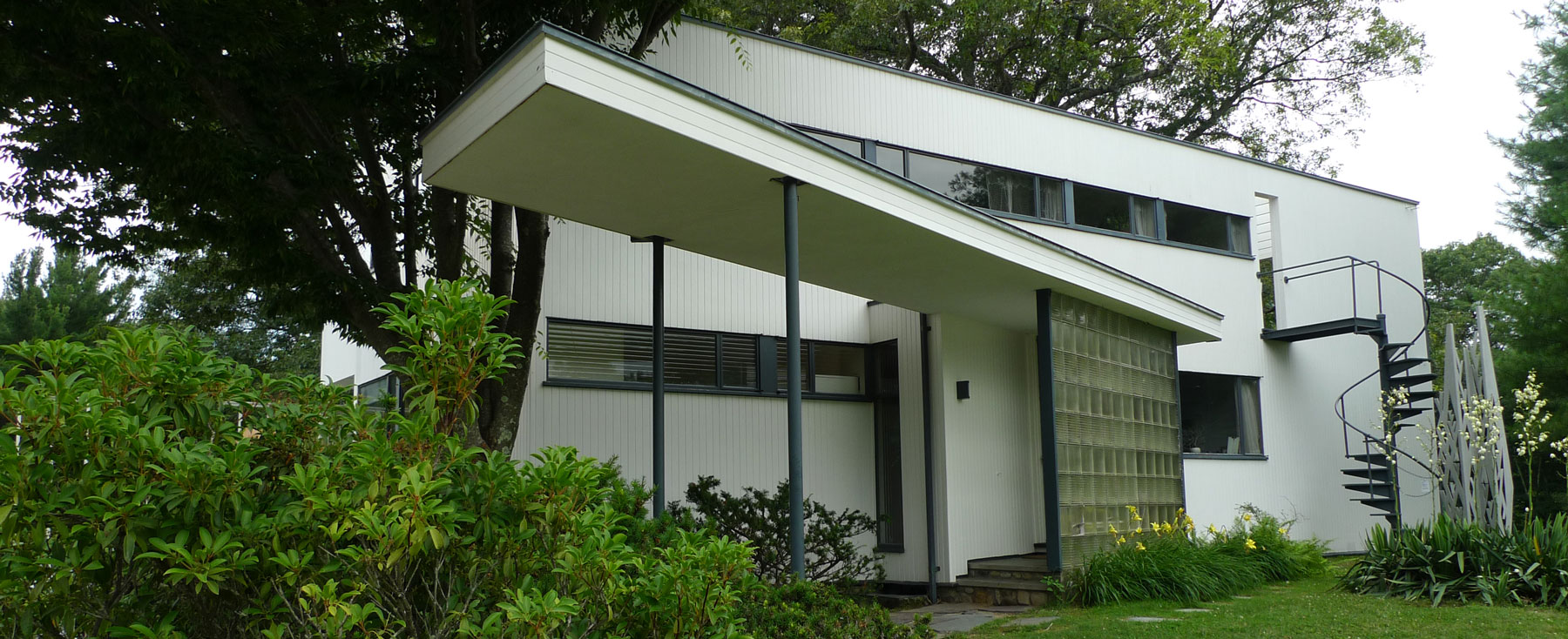 Composer Stravinsky Visits Gropius House In Lincoln