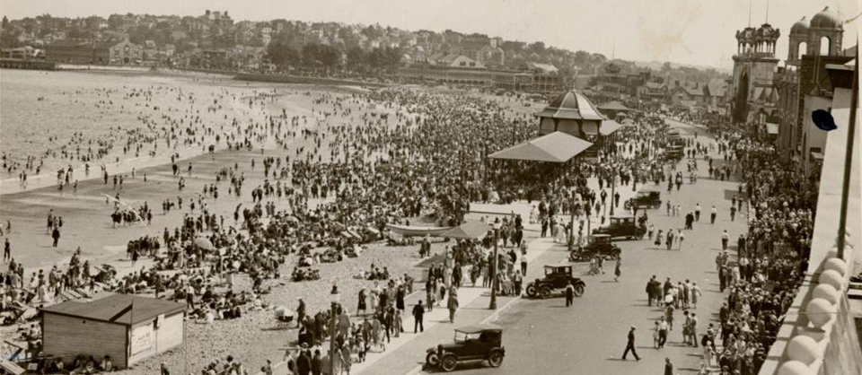 On This Day In 1896 45 000 People Gathered Revere To Celebrate The Opening Of First Public Beach Nation 1895 Newly Created