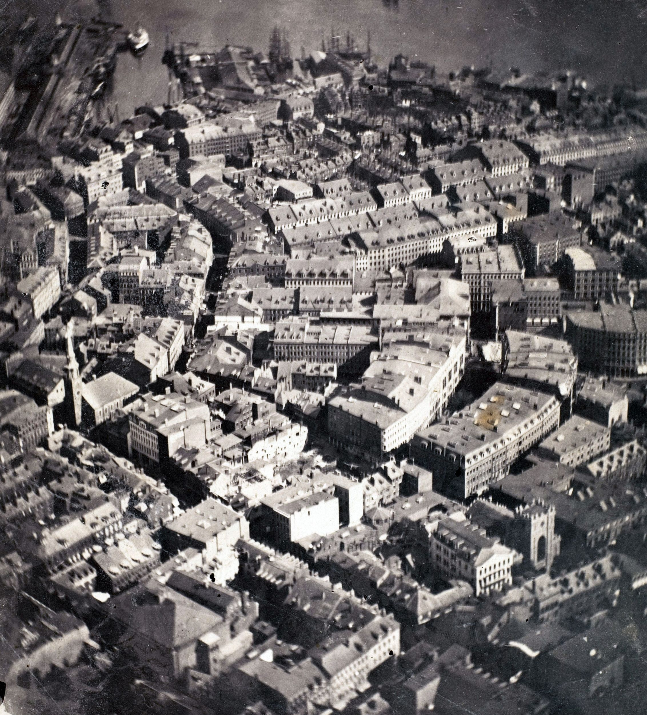 On October 8, 1860, Boston newspapers announced that painter turned  photographer James Wallace Black would photograph Boston from a hot-air  balloon hovering ...