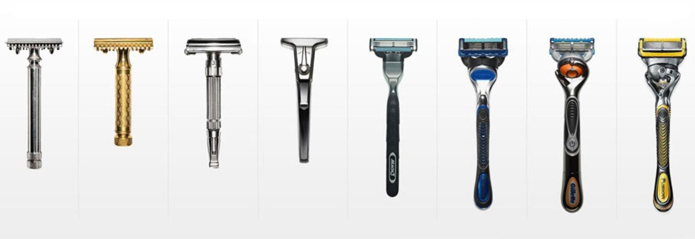 Gillette razor models history meetup react bangalore